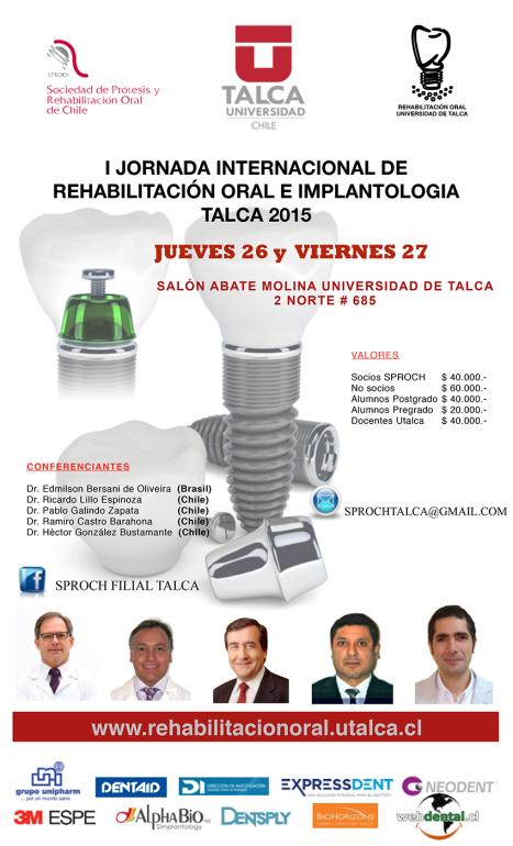 I Jornadas de Rehabilitación Oral e Implantología Talca 2015