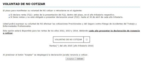 sii-voluntad-de-no-cotizar